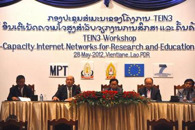 Opening session of TEIN3 Workshop in Vientiane, Laos